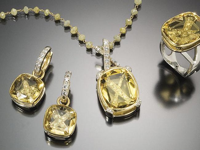 Ювелирные украшения с гелиодором