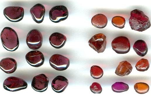 Разновидности граната