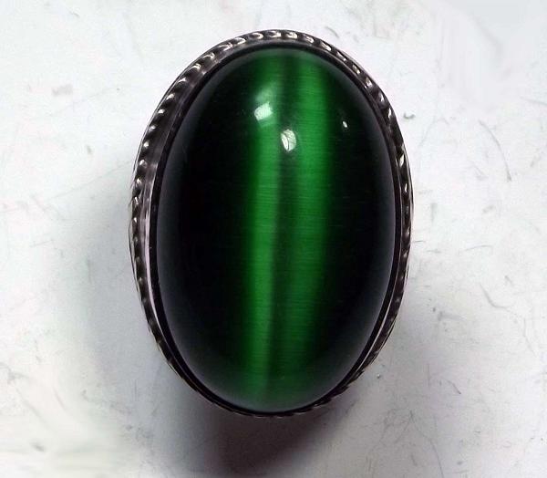 Натуральный камень кошачий глаз